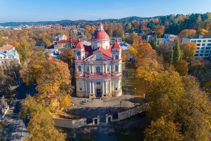 Kościół St Peter i St Paul, Vilnius, Lithuania obrazy royalty free