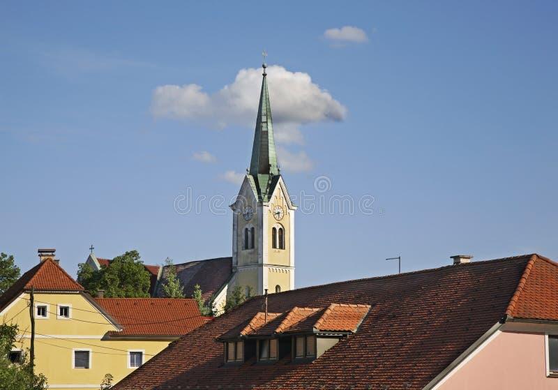 Kościół St Rupert w Krsko Slovenia fotografia stock