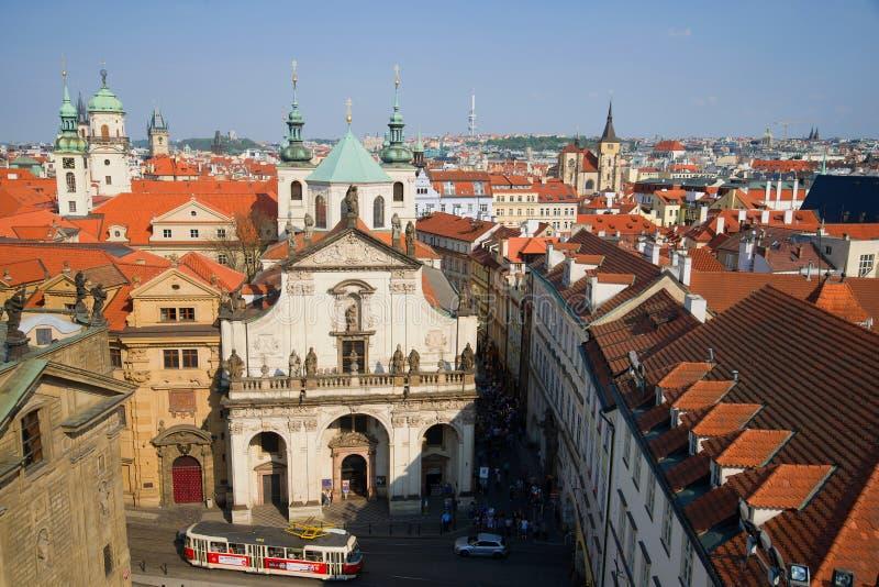 Kościół St Salvator na pogodnym Kwietnia dniu, Praga zdjęcia royalty free