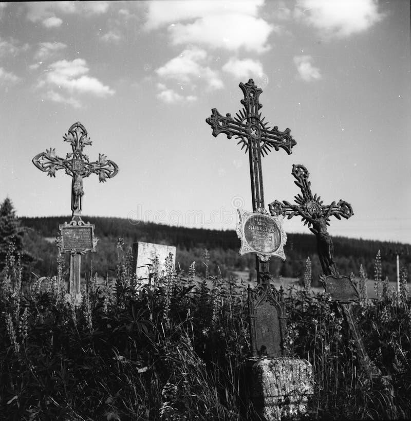 Kościół St Stephen po środku parka narodowego Sumava fotografia royalty free