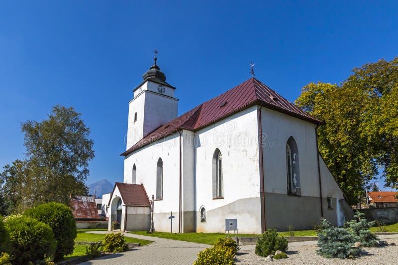 Kościół StAndrew w Velky Slavkov, Sistani obraz stock
