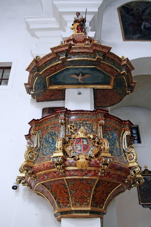 Kościół StMary ` s wniebowzięcie, Samobor, Chorwacja, 3 fotografia royalty free