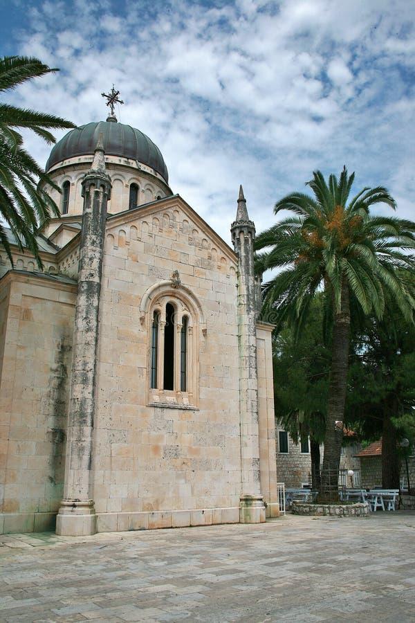 Kościół sv Zdroje w Topla, Herceg Novi zdjęcie royalty free