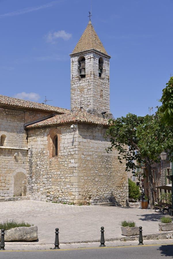 Kościół Tourrettes-sur-Loup w Francja zdjęcie stock