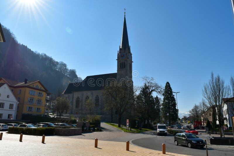 Kościół Vaduz, Liechtenstein - zdjęcia stock