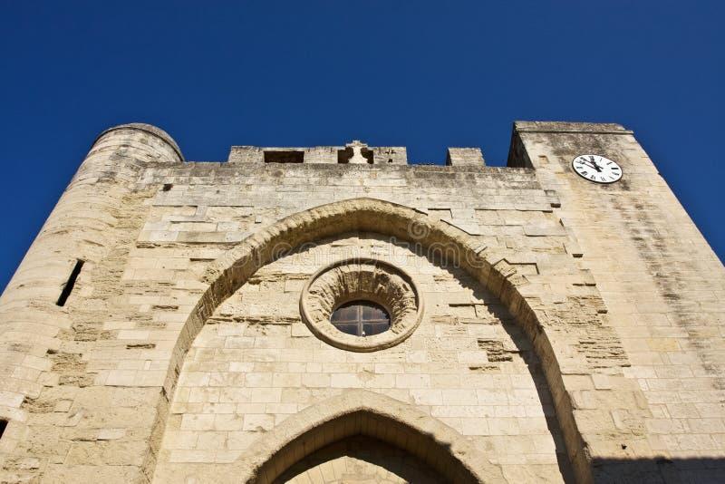 Kościół w Aigues-Mortes zdjęcia royalty free