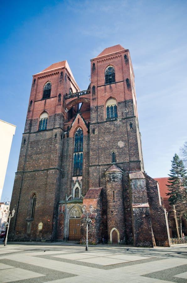 Kościół w Brzeg, Polska obraz royalty free
