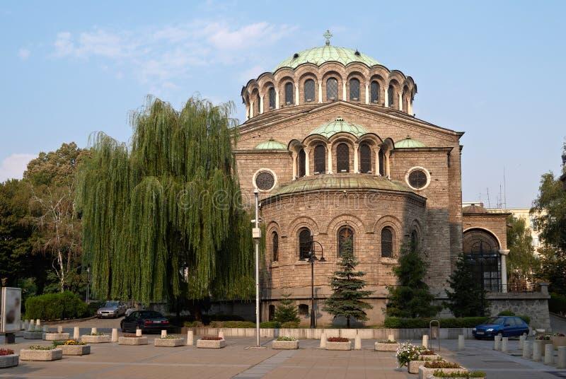 Kościół w centre Sofia, Bułgaria zdjęcia stock