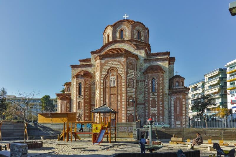Kościół w centrum miasteczko Xanthi, Wschodni Macedonia i Thrace, zdjęcia royalty free