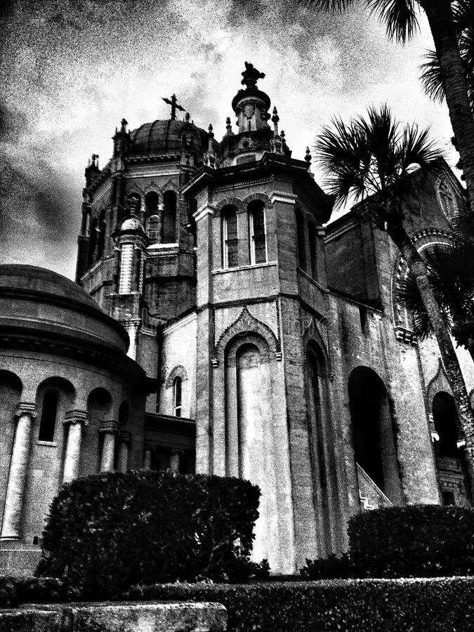 Kościół w czarny i biały fotografia royalty free