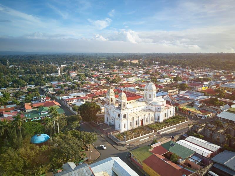 Kościół w Diriamba mieście obraz royalty free