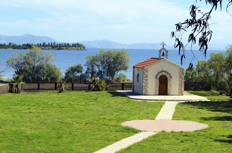 Kościół w Eretria Evia Grecja zdjęcia royalty free