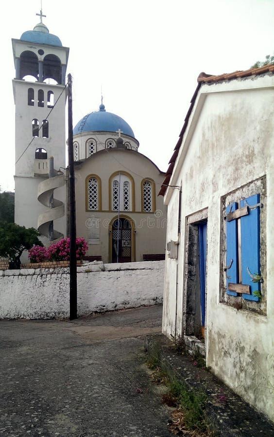 Kościół w Exoghi wiosce, Ithaca, Grecja zdjęcia stock