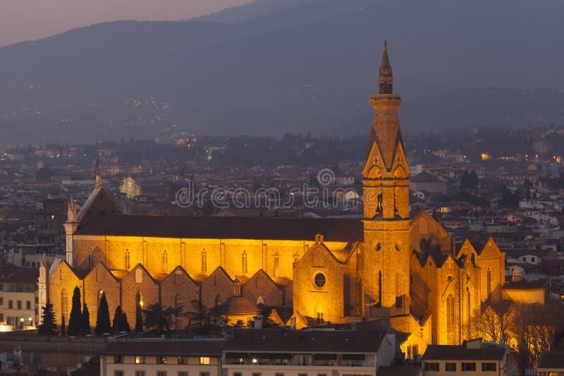 Kościół w Florencja obrazy royalty free