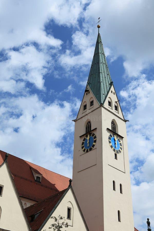Kościół w Kempten Niemcy fotografia royalty free