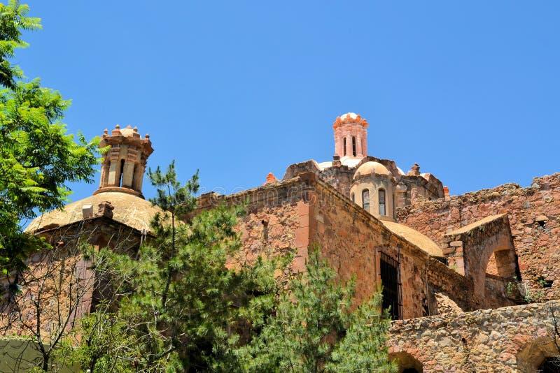Kościół w koloniście Zacatecas, Meksyk zdjęcie stock