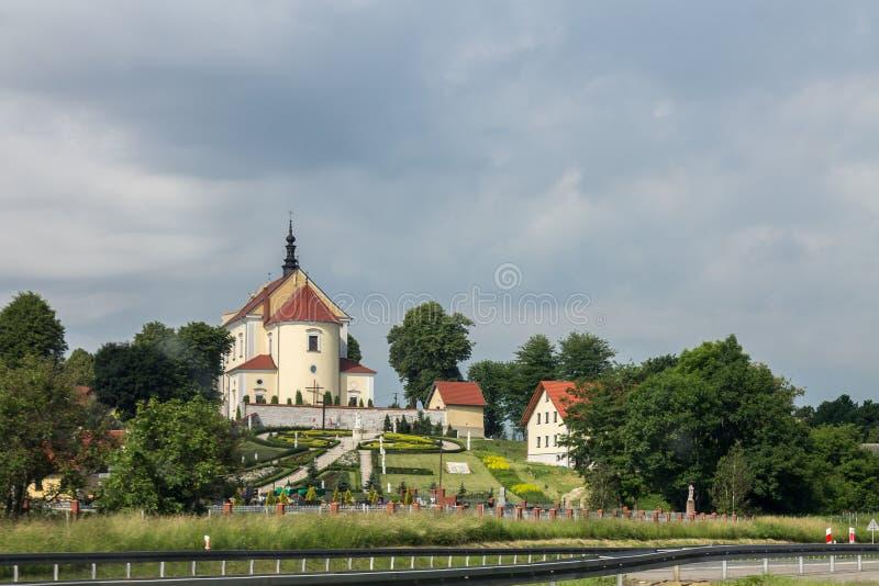 Kościół w Krakow Polska fotografia stock