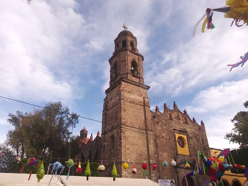 Kościół w miasteczku Meksyk zdjęcie stock