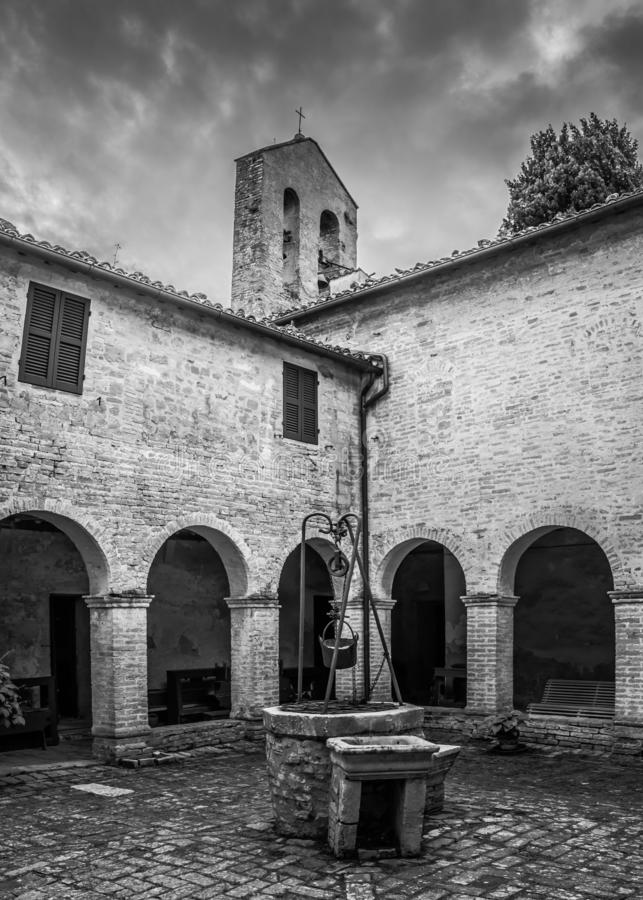 Kościół w Monte San Bartolo monasterze w Pesaro, Marche, Włochy obraz royalty free