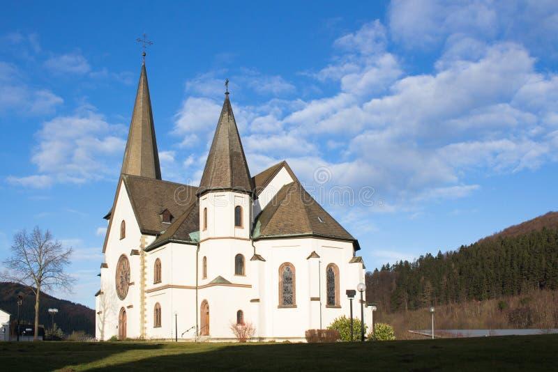 Kościół w Olsberg, Niemcy obrazy stock