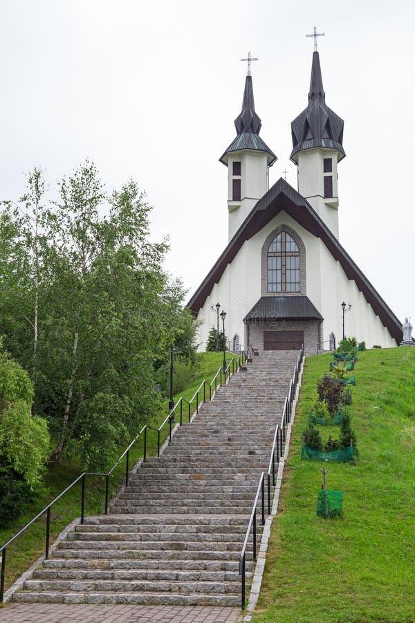 Kościół w Pieniny górach zdjęcia royalty free