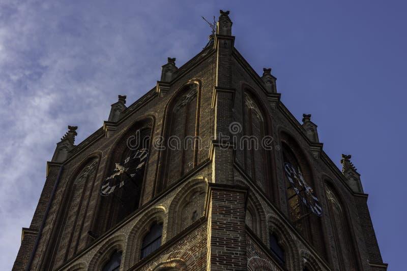 Kościół w ranku świetle słonecznym zdjęcia stock