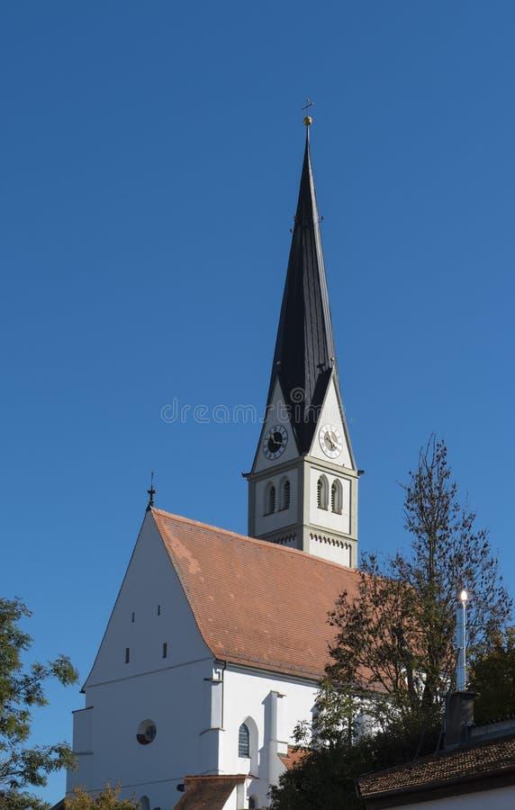 Kościół w Scheuring wzdłuż Romantycznej drogi, Niemcy obrazy royalty free