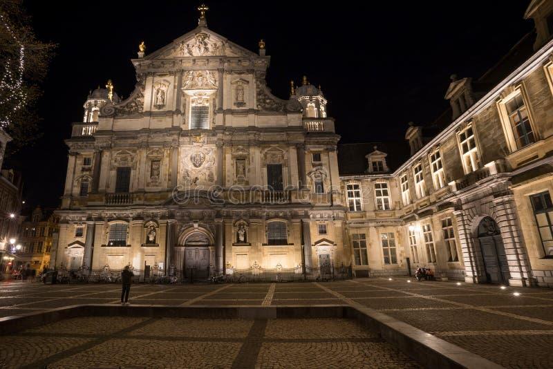 Kościół w starym grodzkim Antwerp Belgium zdjęcie royalty free