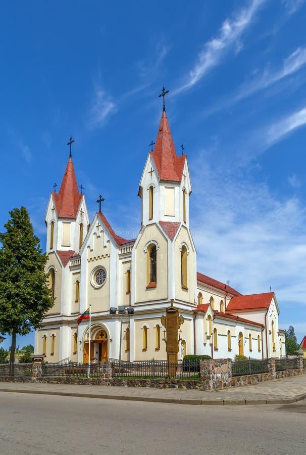 Kościół w Svencionys, Lithuania zdjęcie stock