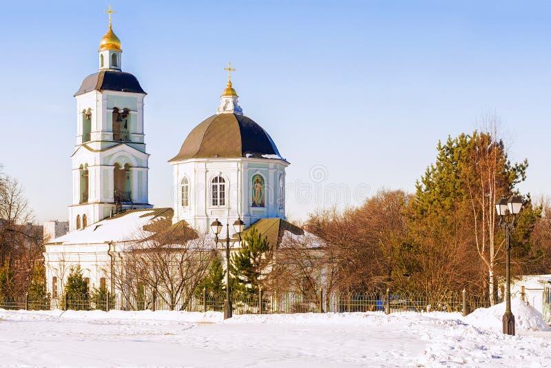 Kościół w Tsaritsyno rezerwie moscow Rosji fotografia royalty free