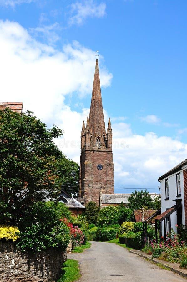 Kościół w Weobley wioski centre zdjęcie royalty free