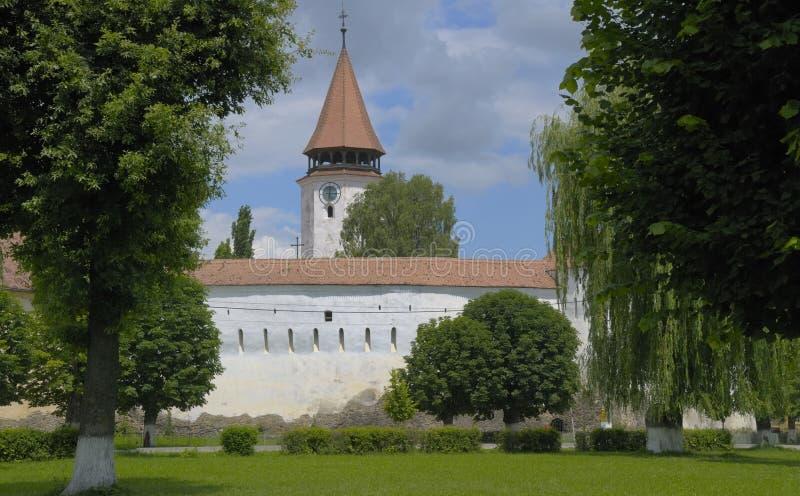 kościół warowny Transylvania fotografia stock