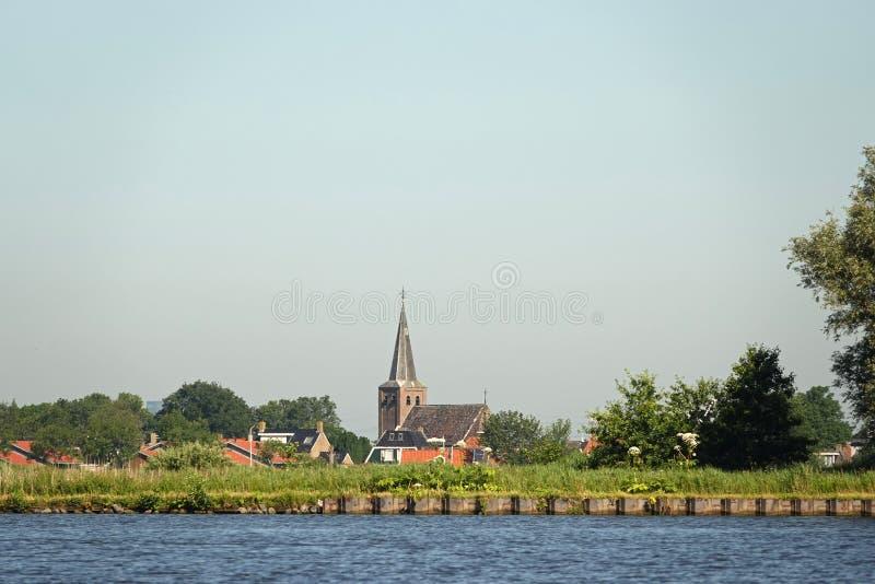 Kościół Warten w Friesland w holandiach fotografia stock