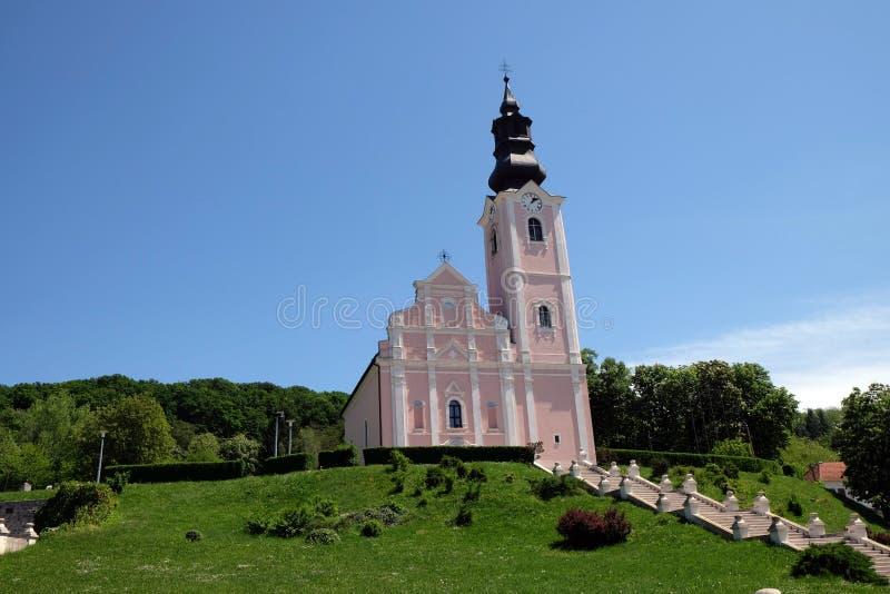 Kościół wniebowzięcie Błogosławiony maryja dziewica w Pakrac, Chorwacja obrazy stock