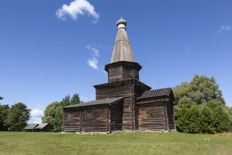 Download Kościół Wniebowzięcie W 1595 Muzeum Drewniana Architektura Vitoslavlitsy Velikiy Novgorod Rosja Zdjęcie Stock - Obraz złożonej z błękitny, kopuła: 57668122