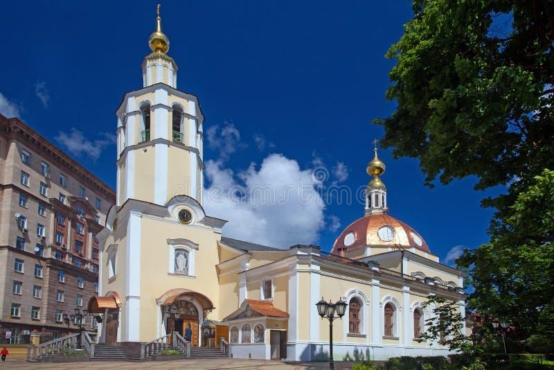 Kościół Wszystkie święty w Vsesvyatskoe na Sokol regionie w Moskwa zdjęcia royalty free