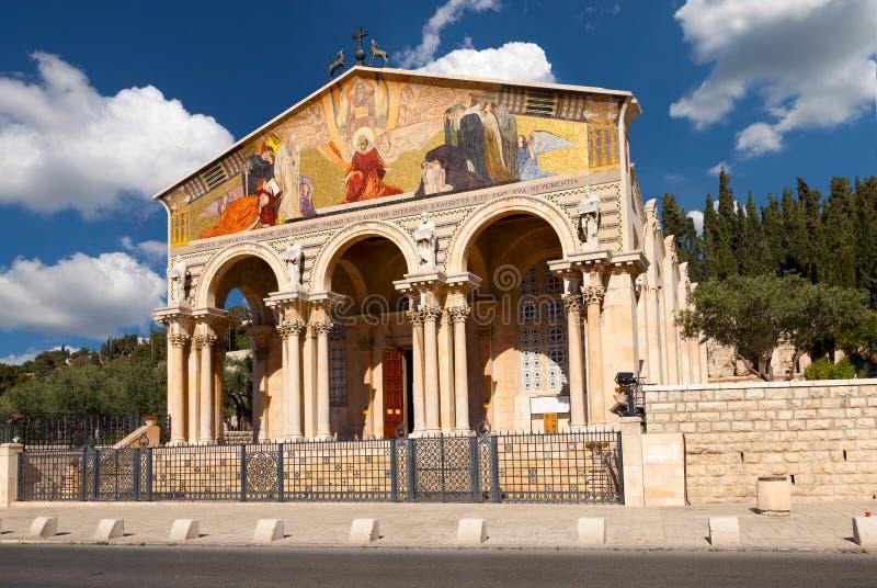 Kościół Wszystkie narody. Izrael. obraz stock