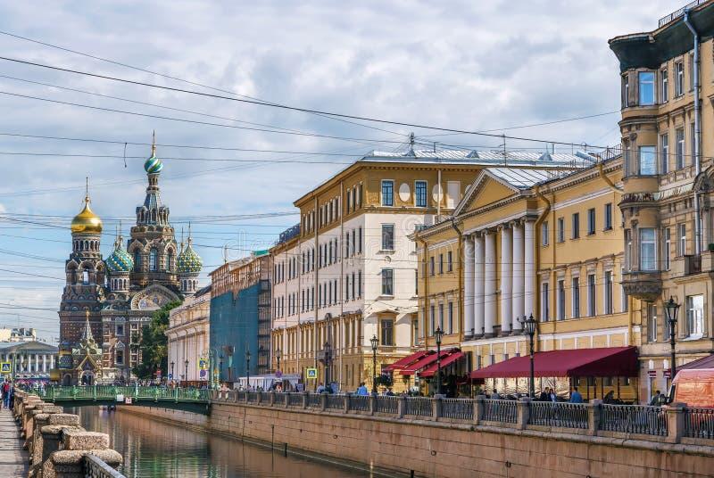 Kościół wybawiciel na krwi, święty Petersburg, Rosja fotografia stock