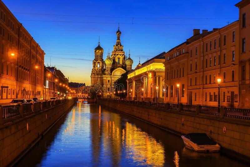 Kościół wybawiciel na krwi, Petersburg, Rosja fotografia royalty free