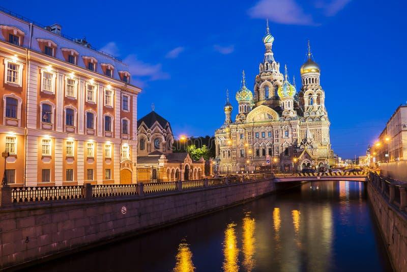 Kościół wybawiciel na krwi, Petersburg, Rosja obraz stock