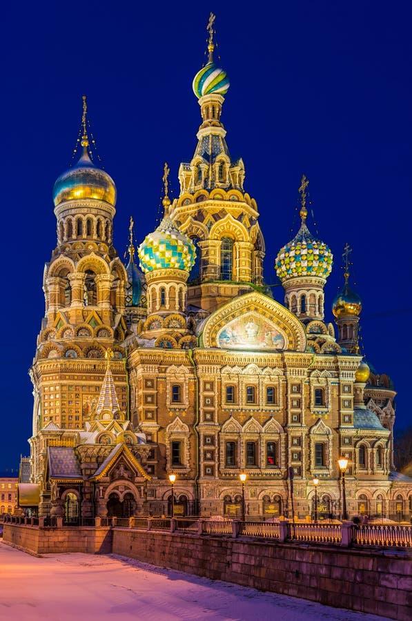 Kościół wybawiciel na krwi w St. Petersburg obrazy royalty free