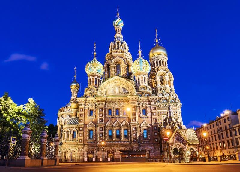 Kościół wybawiciel na krwi w St Petersburg fotografia stock