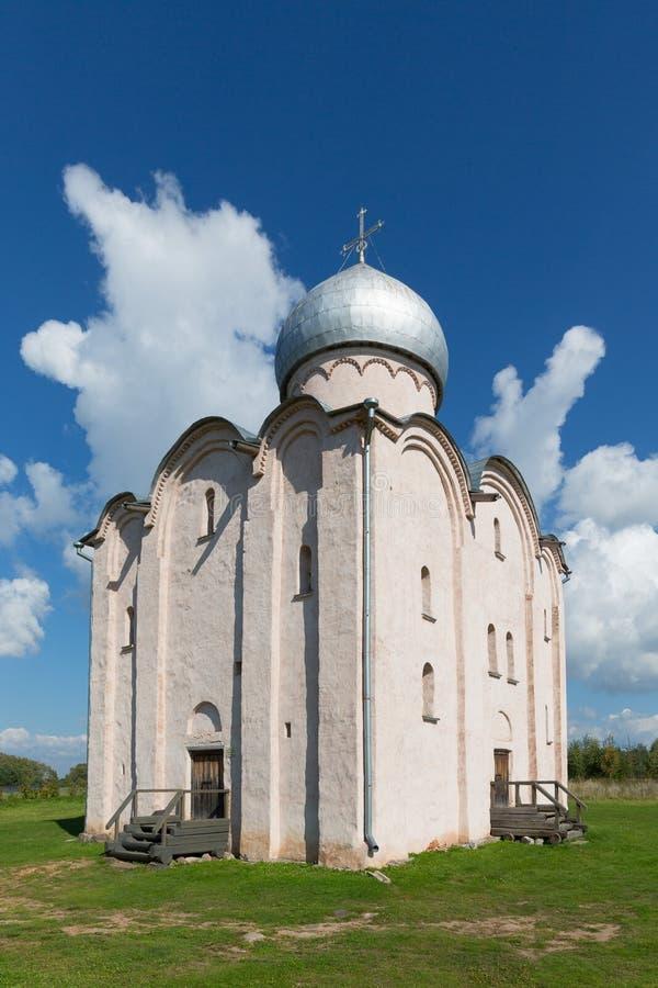 Kościół wybawiciel na Nereditsa nowicjusz Rosja fotografia stock