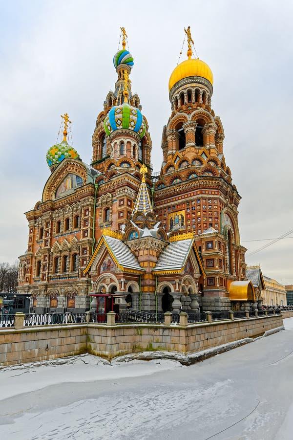Kościół wybawiciel na Rozlewałam krwi w St Petersburg w w zdjęcie stock