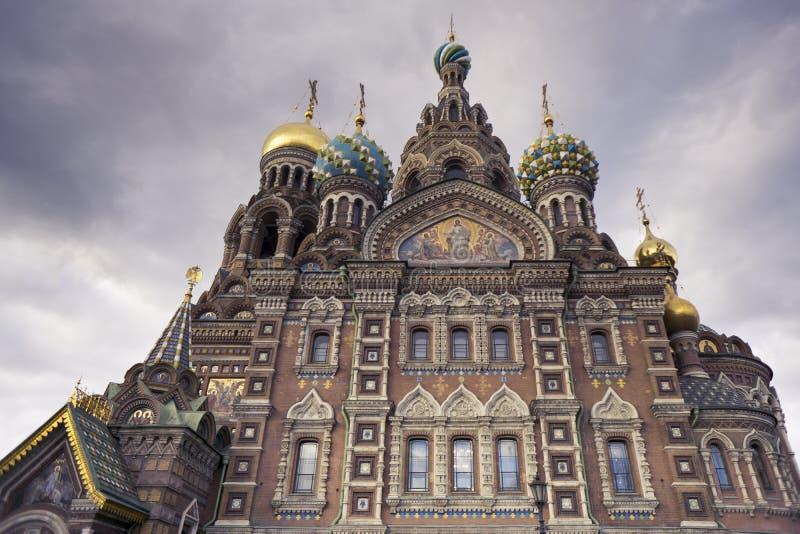 Kościół wybawiciel na Rozlewającej krwi - St Petersburg, Rosja zdjęcie stock
