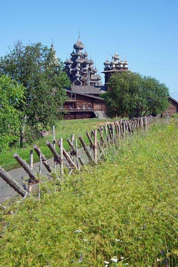 kościół wyspy kizhi drewniany zdjęcia royalty free