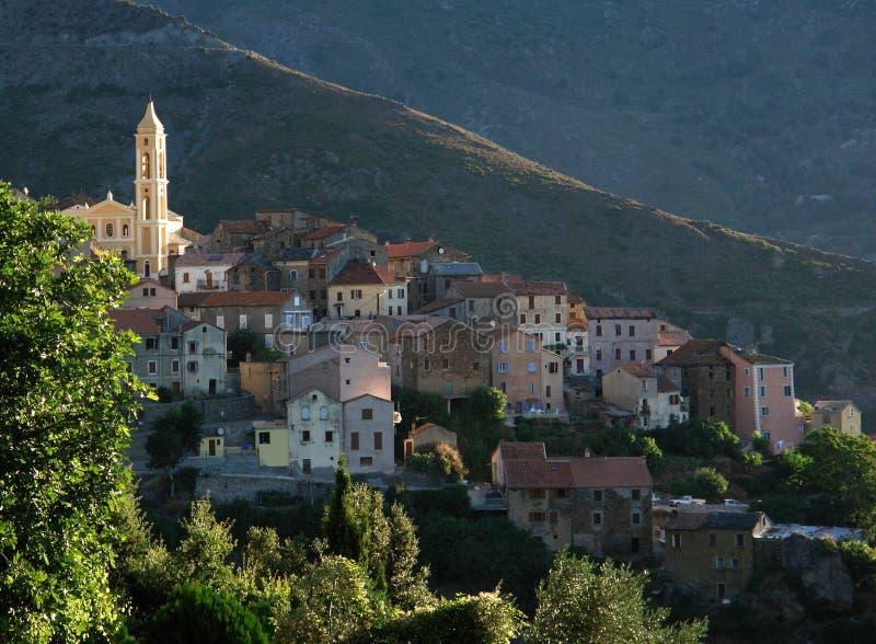 kościół wyspy lento Korsyka zdjęcie royalty free