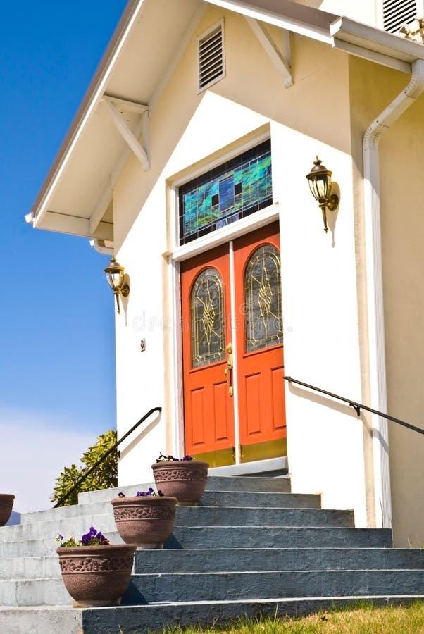 kościół wyszczególnia drzwi fotografia royalty free