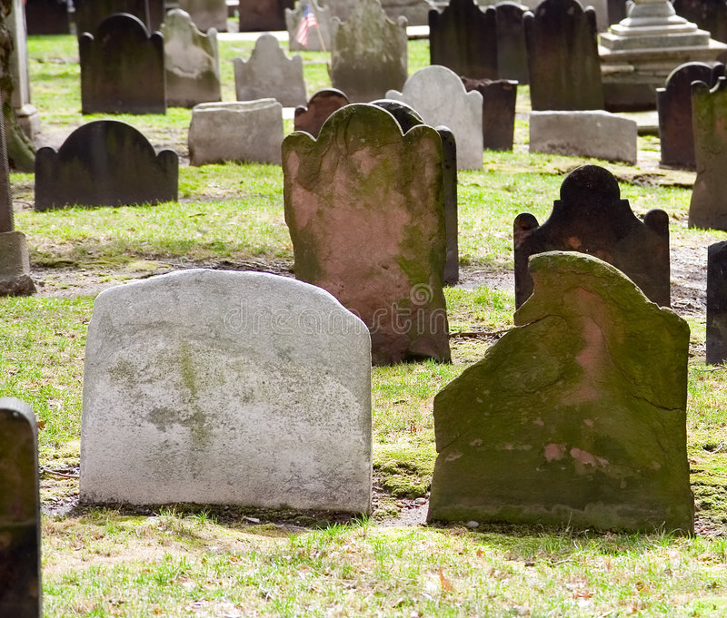 kościół yard grave obraz royalty free