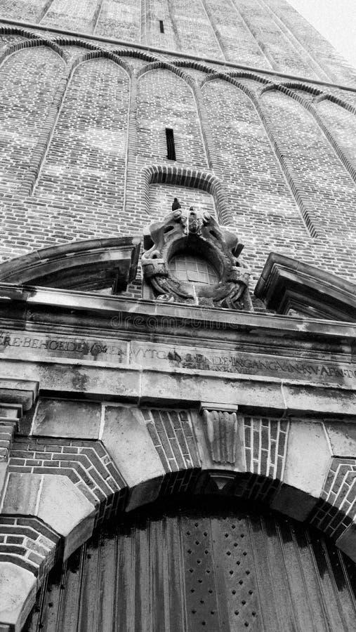 Kościół z ptakiem obraz royalty free